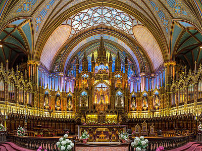 Notre-dame Basilica Of Montreal Print by Nick RUXANDU