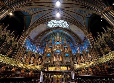 Montreal Landmarks Photograph - Notre-dame Basilica Of Montreal by James Wheeler