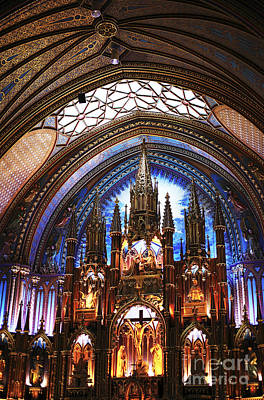 Old Montreal Photograph - Notre Dame Ceiling by John Rizzuto