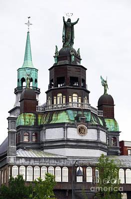 Montreal Landmarks Photograph - Notre-dame-de-bon-secours Chapel  by John Rizzuto