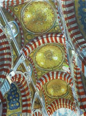 Notre Dame Cathedral Painting - Notre- Dame De La Garde, Marseille, France by Henrieta Maneva
