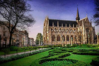 Notre Dame Du Sablon In Brussels  Print by Carol Japp