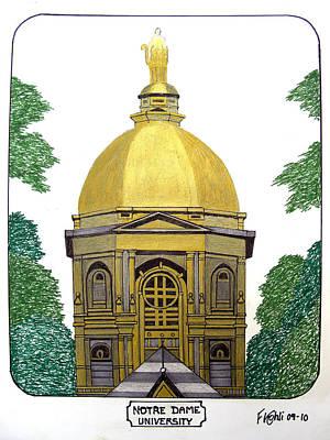 Notre Dame Print by Frederic Kohli