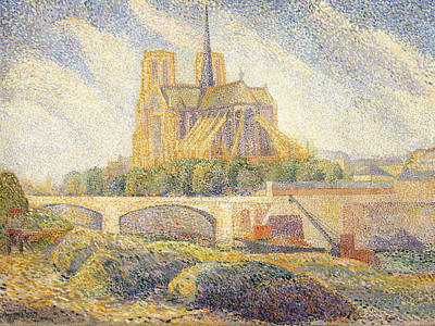 Notre Dame Print by Hippolyte Petitjean