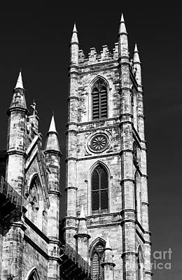 Montreal Landmarks Photograph - Notre Dame In Montreal by John Rizzuto