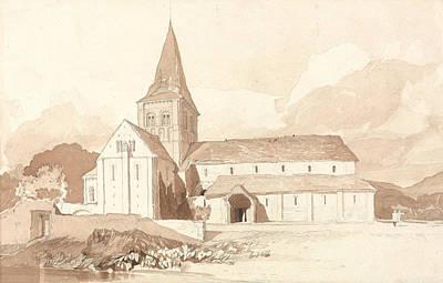 Universities Drawing - Notre Dame Sur L'eau, Domfront, Normandy by John Sell Cotman