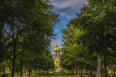 Bnw Photograph - Notre Dame University 2 by David Haskett