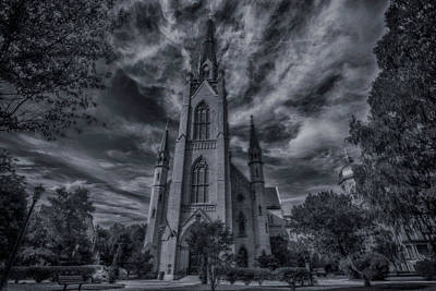 Notre Dame Photograph - Notre Dame University Church by David Haskett