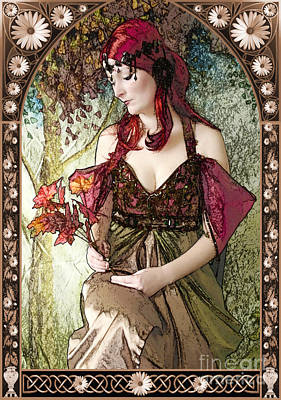 Painter Digital Art - Nouveau by John Edwards