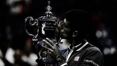 Australian Open Mixed Media - Novak Djokovic by Brian Reaves