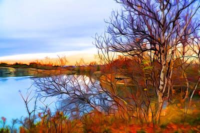 Plein Air Digital Art - November Is Here by Lilia D