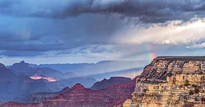 November Rain - Grand Canyon National Park Photograph Print by Duane Miller