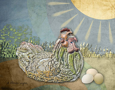 Egg Digital Art - Now What.... by Arline Wagner