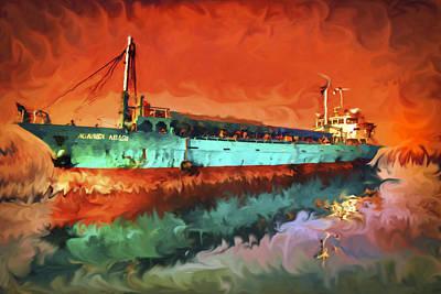 Rowboat Mixed Media - Nuansa Abadi by Svetlin Yosifov