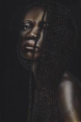 South Sudan Painting - Nubian Beauty by Wayne Pruse