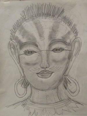 Nubian Goddess Of The Pharaohs Print by Sharyn Winters