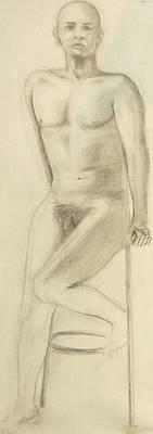 Modelin Drawing - Nud by Bahman Zadegan