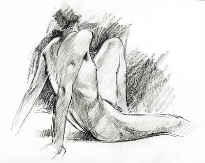 Nude 023 Original by Edward Henrion