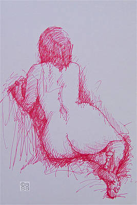 Seated Nude Girl Photograph - Nude 11 by Alan Sanders