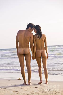 Nude Couple Print by Juan  Silva
