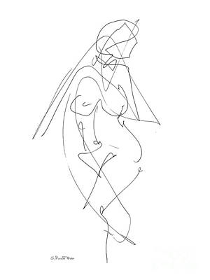 Black And White Erotic Art Drawing - Nude Female Drawings 6 by Gordon Punt