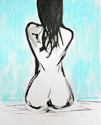 Julie Lueders Artwork Painting - Nude Female by Julie Lueders