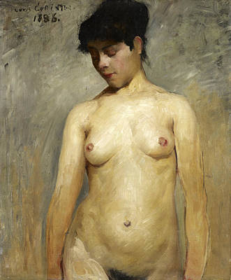 Lovis Corinth Painting - Nude Girl, A Study by Lovis Corinth