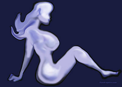 Airbrush Digital Art - Nude by Kevin Middleton