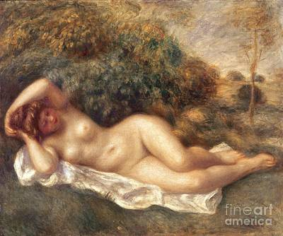 Chest Painting - Nude by Pierre Auguste Renoir