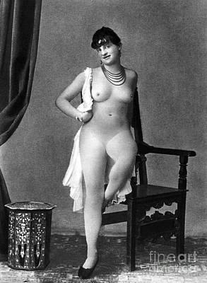 Earrings Photograph - Nude Posing, C1880 by Granger