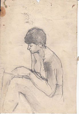 Nude Reading Print by Brian Francis Smith
