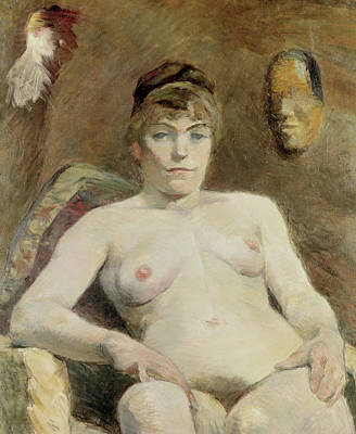 Prostitutes Painting - Nude Woman, 1884 by Henri de Toulouse-Lautrec