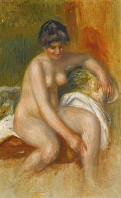 Pierre-auguste Renoir Painting - Nude Woman In An Interior by Pierre-Auguste Renoir