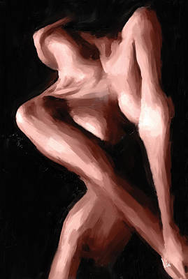 Nude Painting - Nude Women Painting #29 Nude Girl Nude Painting Female Nudes Oil Abstract Wall Art Decor Home Art De by Vya Artist
