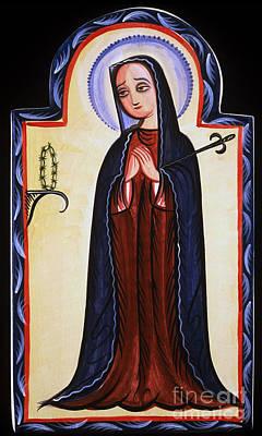 Saint-lo Painting - Nuestra Senora De Los Dolores - Our Lady Of Sorrows - Aosdd by Br Arturo Olivas OFS