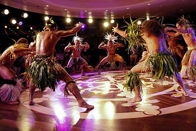 Nuku Hiva Dancers Print by David Smith