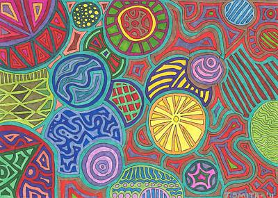 Abstract Shapes Drawing - Number 17 by Terri Smith