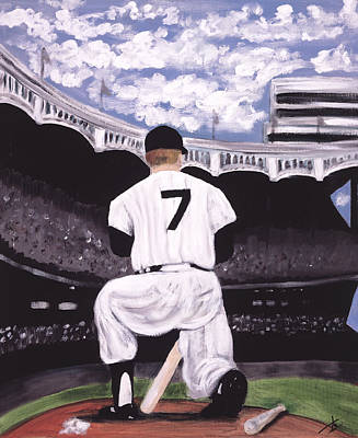 Mickey Mantle Painting - Number 7  by Jorge Delara