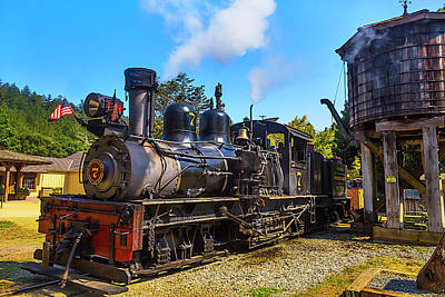 Headlight Photograph - Number Seven Locomotive by Garry Gay