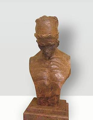 Richard Macdonald Sculpture - Nureyev Bust by Richard MacDonald