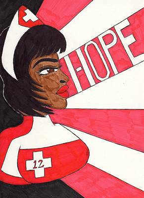 Nurse Laura Rays Of Hope Print by Ronald Woods
