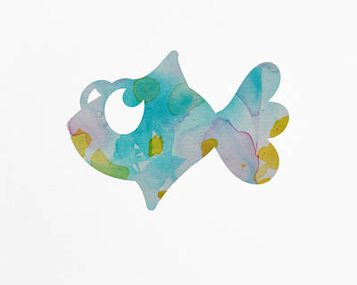 Nursery Fish Print Print by Nursery Art