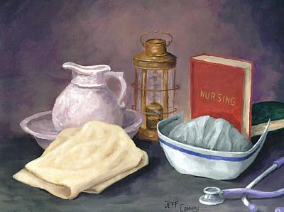 Nursing Print by Jeff Conway