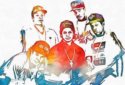 Icon Mixed Media - Nwa Color Tribute by Dan Sproul