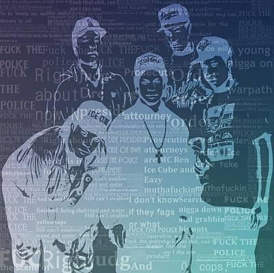 Nwa F The Police Lyrics Print by Dan Sproul