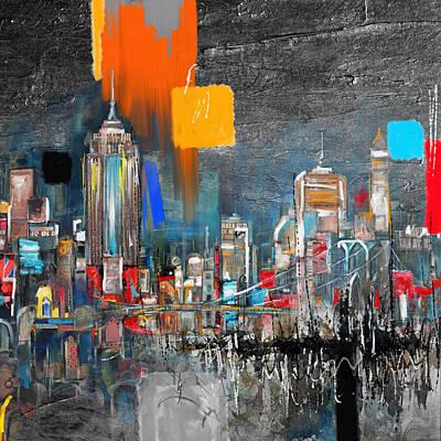 Moma Painting - Ny Skyline 198 2  by Mawra Tahreem
