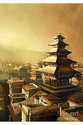 Nyatapola Temple- Nepal Original by Ryan Fox