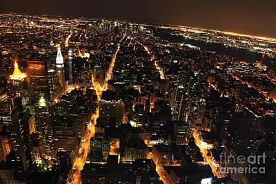 New York City Skyline Photograph - Nyc Skyline At Night IIi by Wayne Moran