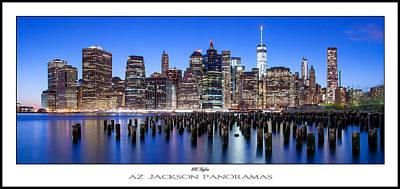 New York Skyline Photograph - Nyc Skyline Poster Print by Az Jackson