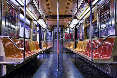 Artistic Digital Art - Nyc Subway by Kelley King